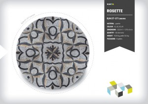 Granite paving mosaic