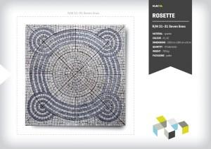 Granite paving mosaic