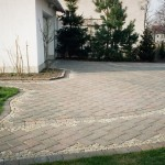 Granite setts and concrete pavers