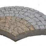 Fan paving pattern