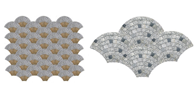 Granite paving fan
