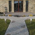 Granite garden pathway